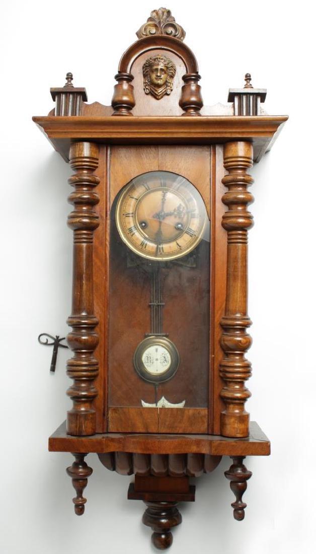 Schlenker & Kienzle German Wall Clock, ca. 1900