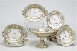 Continental Porcelain Compote & Dishes, 23 Pcs.