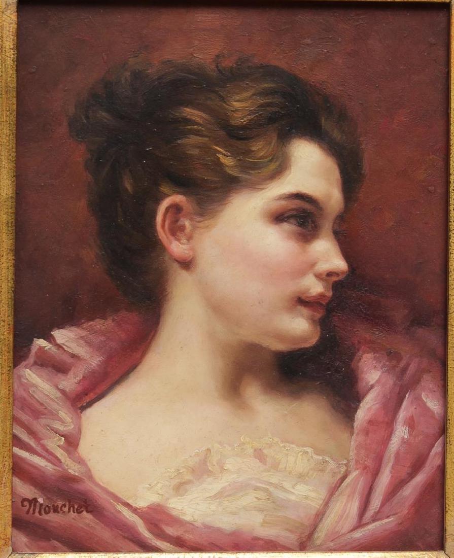 After Francois Nicolas Mouchet- Oil Portrait
