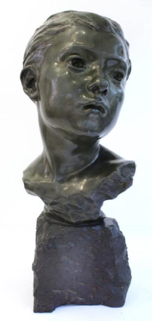 Jules Desbois (French, 1851-1935)- Bronze Bust