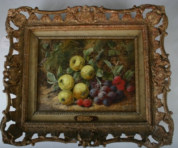 805: G. Claire Oil on Canvas Still Life