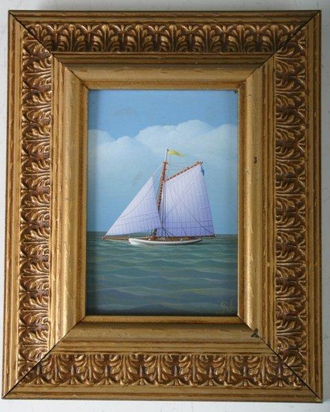 806: g.Nemethy American Mixed Media Maritime Painting