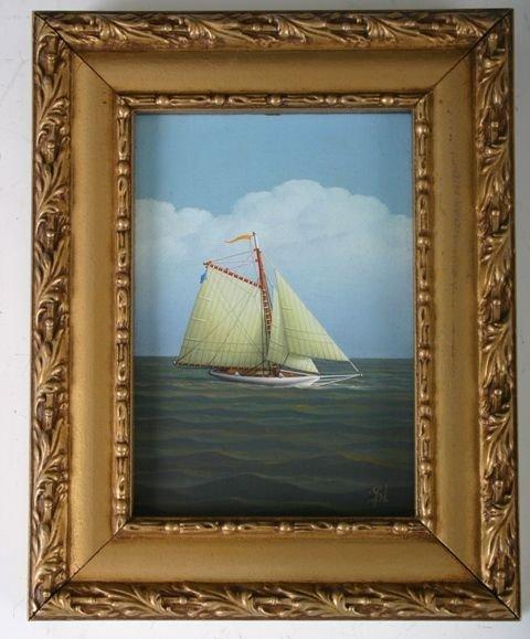 809: G. Nemethy American Maritime Oil Painting