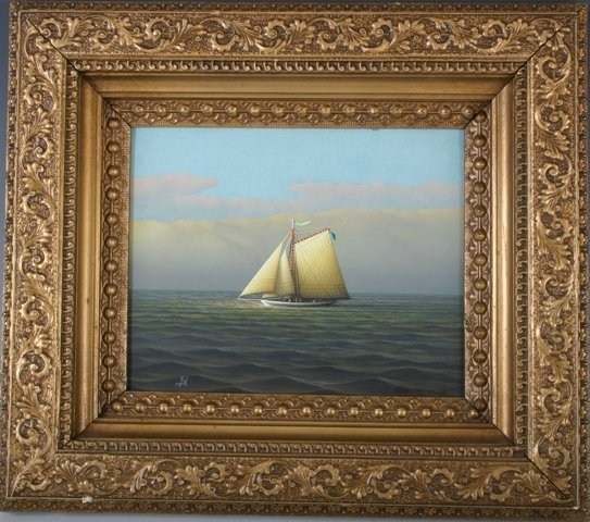 810: G. Nemethy American Maritime Oil Painting