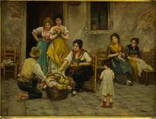 Arthur Tucker (English, 1864-1929)- Oil on Board