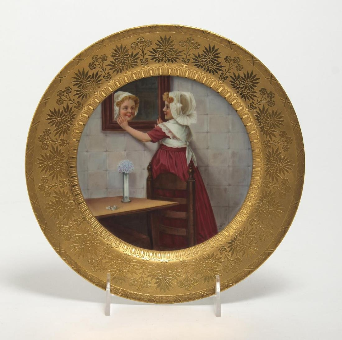 German Porcelain Cabinet Plate Hand-Painted 19th C