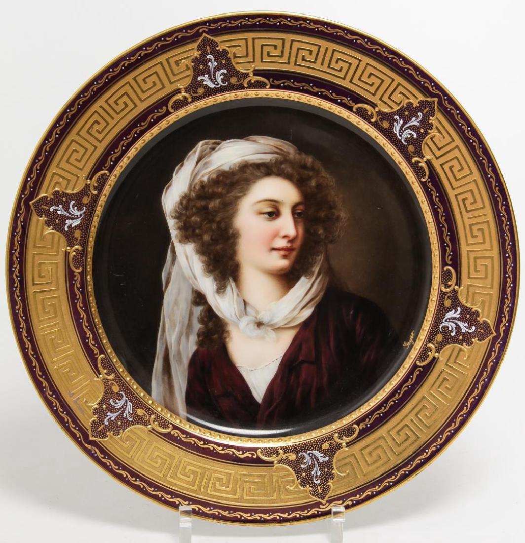 Royal Vienna Porcelain Cabinet Plate, Antique