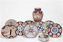Japanese Imari Porcelain Ware, Vintage, 10 Pieces