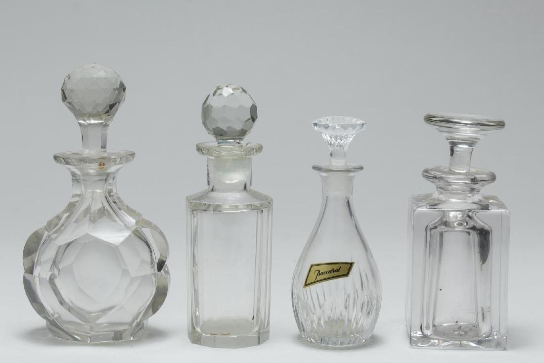 Baccarat & Other Crystal & Glass Perfume Flasks, 4
