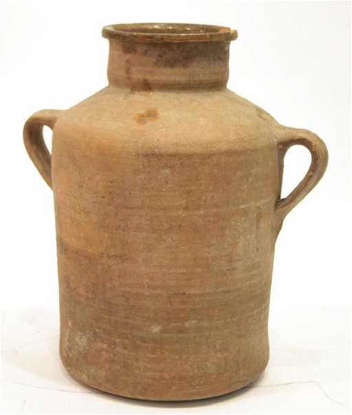 earthenware unglazed pottery large jug