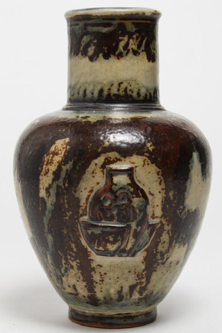 Royal Copenhagen Jais-Nielsen Deco Pottery Vase - 3