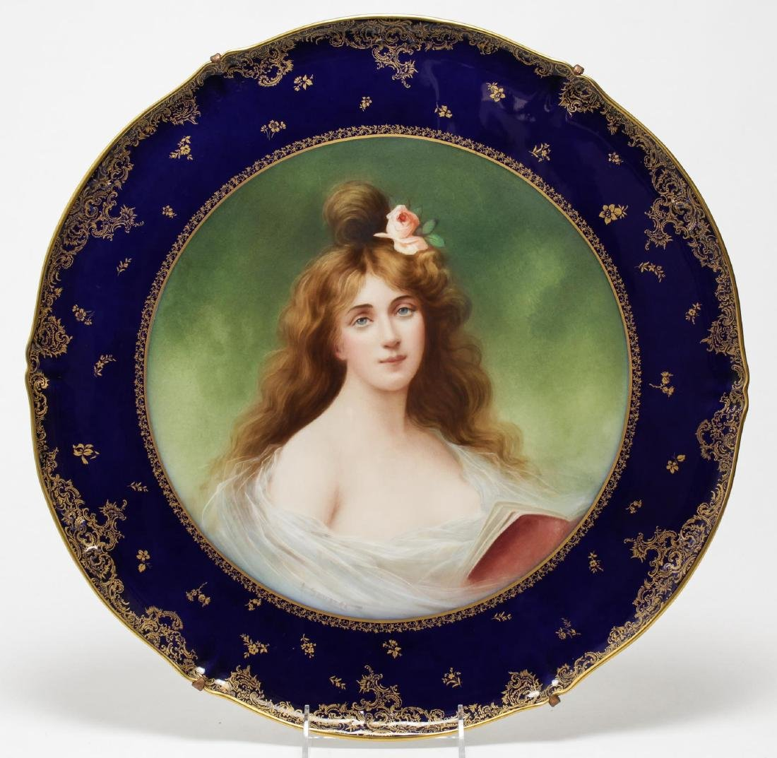 Theodore Haviland Limoges Belle Epoque Plaque