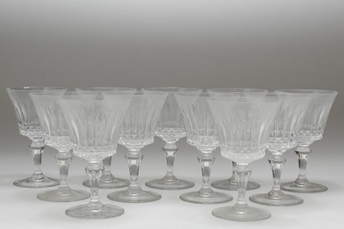 """Baccarat Crystal """"Piccadilly"""" Wine/Water Glasses - 2"""