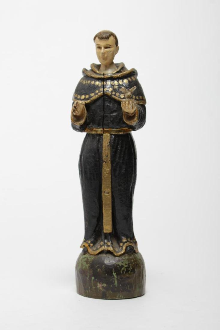 St. Francis Santos Carved & Painted Wood Figure