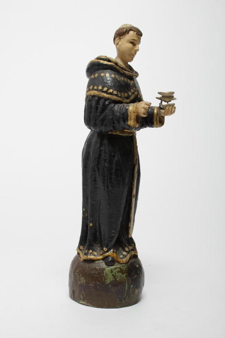 St. Francis Santos Carved & Painted Wood Figure - 3