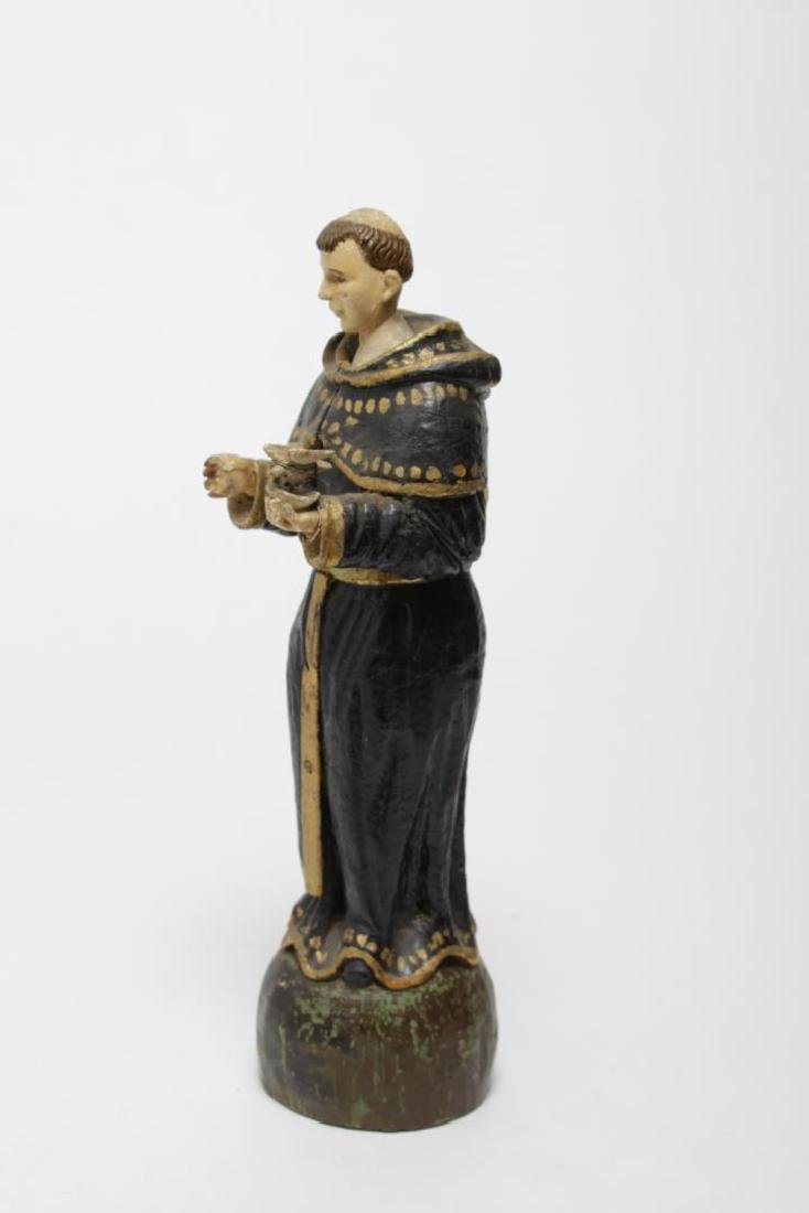 St. Francis Santos Carved & Painted Wood Figure - 5