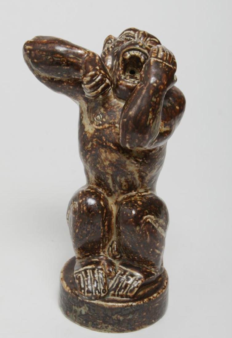 Royal Copenhagen Stoneware Angry Baboon, Knud Kyhn