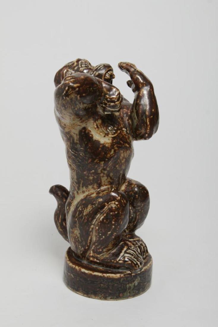 Royal Copenhagen Stoneware Angry Baboon, Knud Kyhn - 2