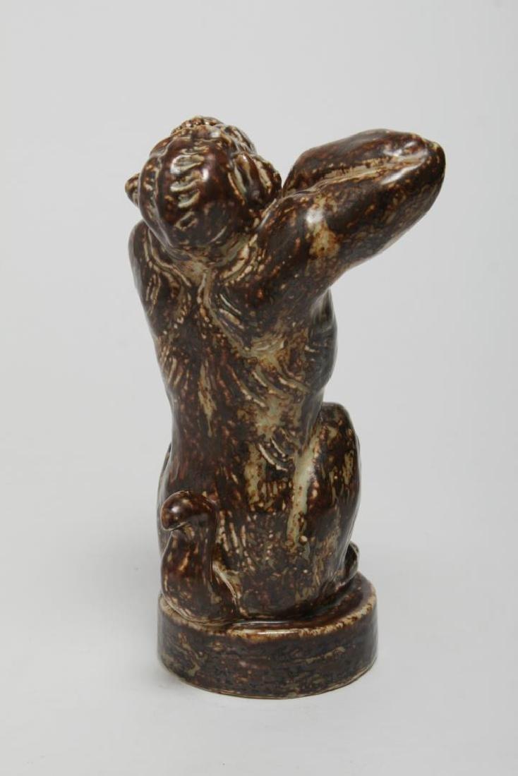 Royal Copenhagen Stoneware Angry Baboon, Knud Kyhn - 3