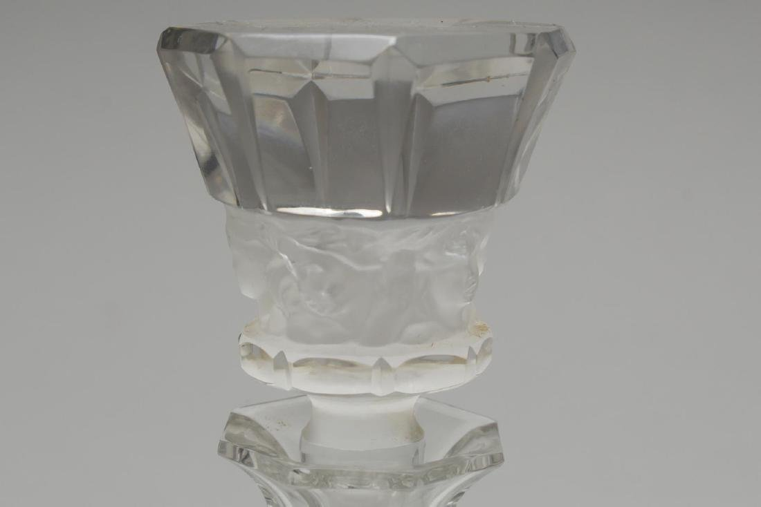 Signed R. Lalique- Crystal Decanter, Frosted - 5