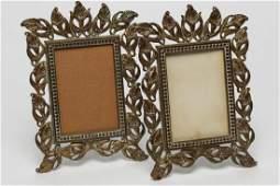 Art Nouveau Metal Picture Frames 2 Antique