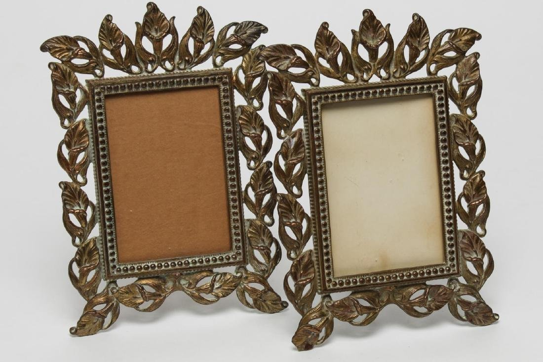 Art Nouveau Metal Picture Frames, 2 Antique