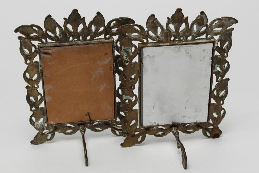 Art Nouveau Metal Picture Frames, 2 Antique - 2