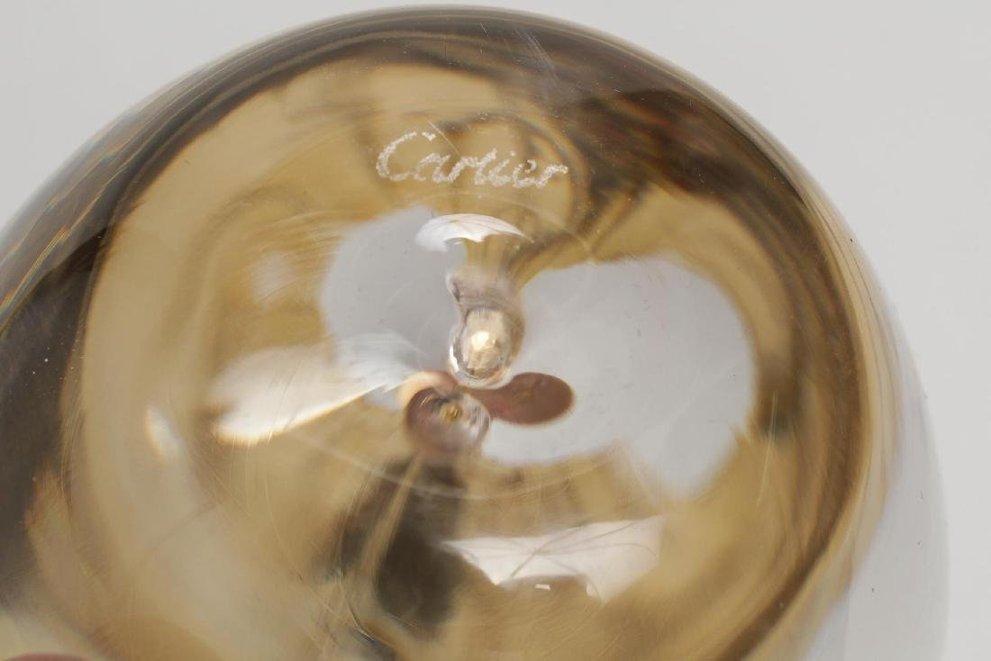 Cartier Crystal & Vermeil Silver Apple Paperweight - 4