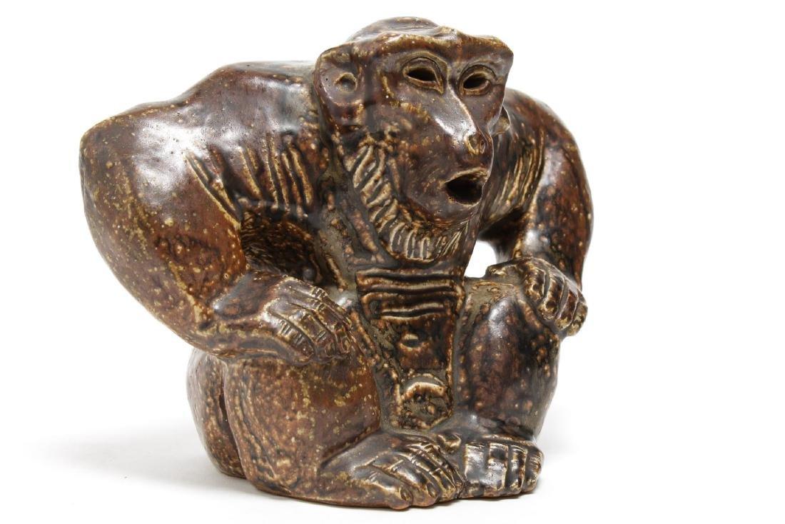 Royal Copenhagen Knud Kyhn Stoneware Gorilla