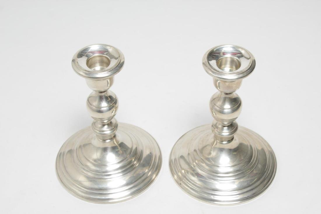 Cartier Sterling Silver Candlesticks, Weighted, 2 - 4