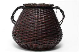 Japanese Meiji Ikebana Bamboo Basket 19th C