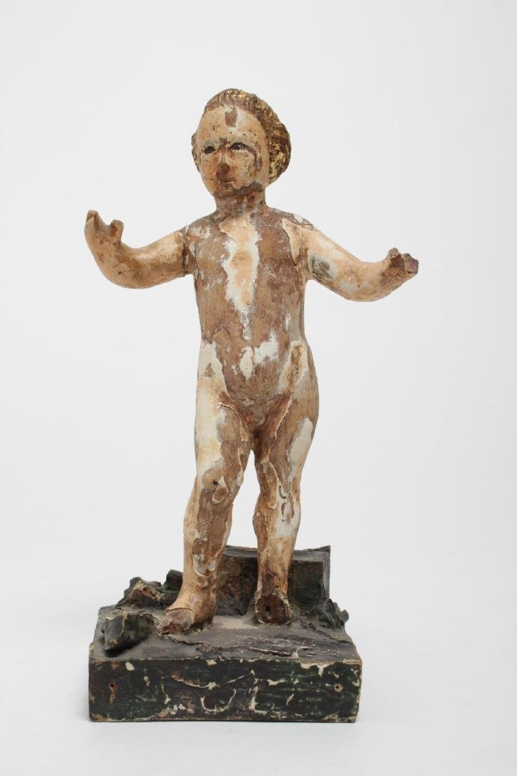 Continental Christ Child, Santos Painted Wood