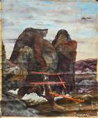 Benjamin Mendoza Bolivian b 1935 Oil