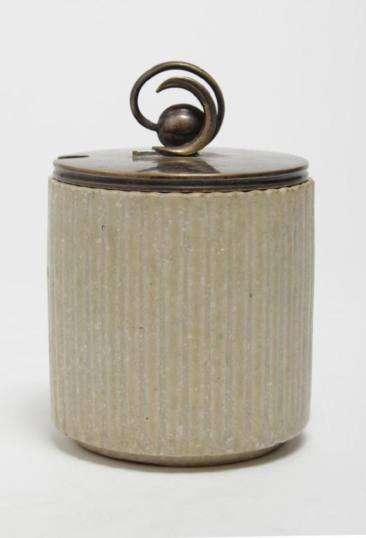Arne Bang Denmark Stoneware Jam Jar, 1930s