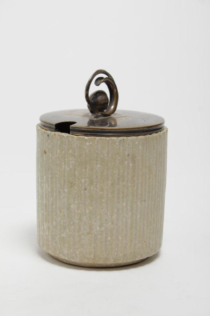 Arne Bang Denmark Stoneware Jam Jar, 1930s - 2