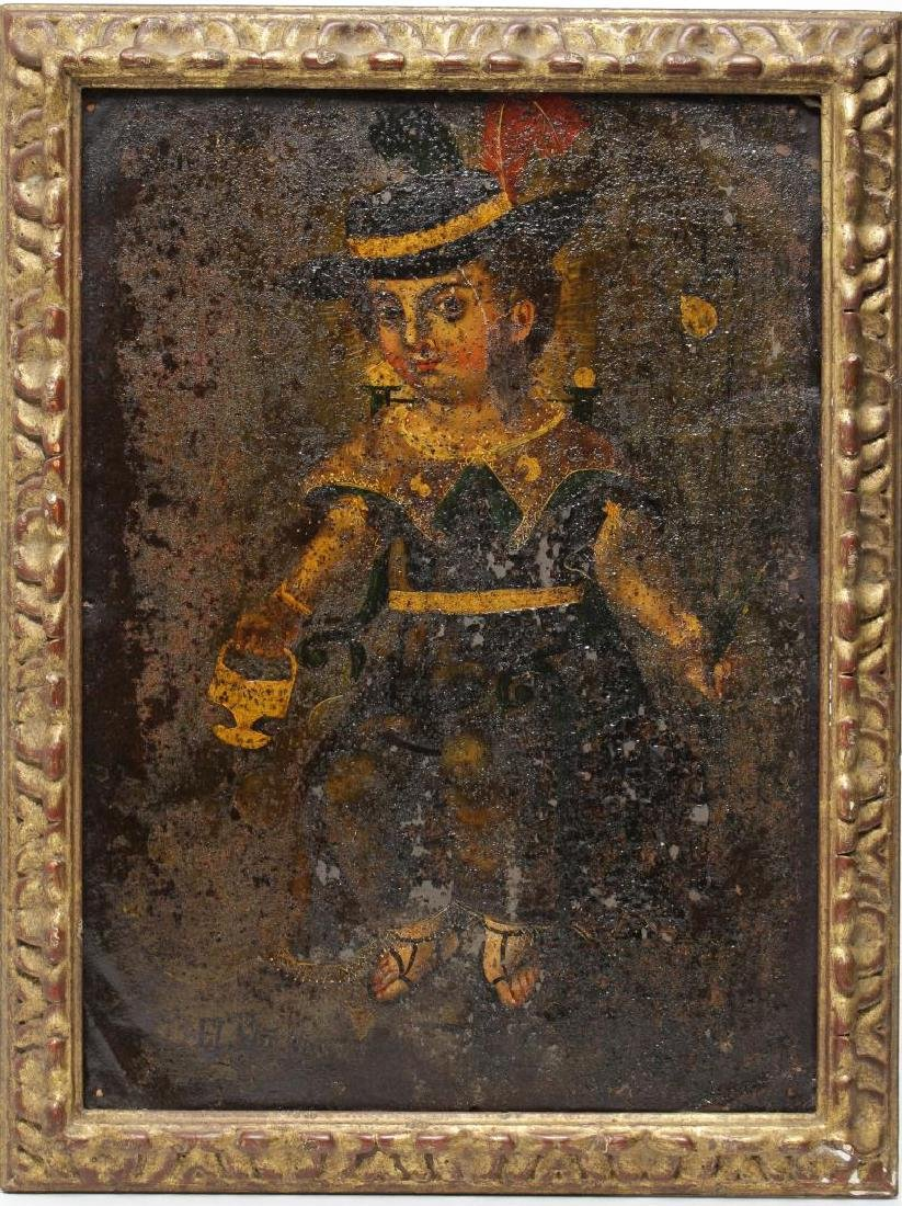 Spanish Colonial South American Toleware Painting