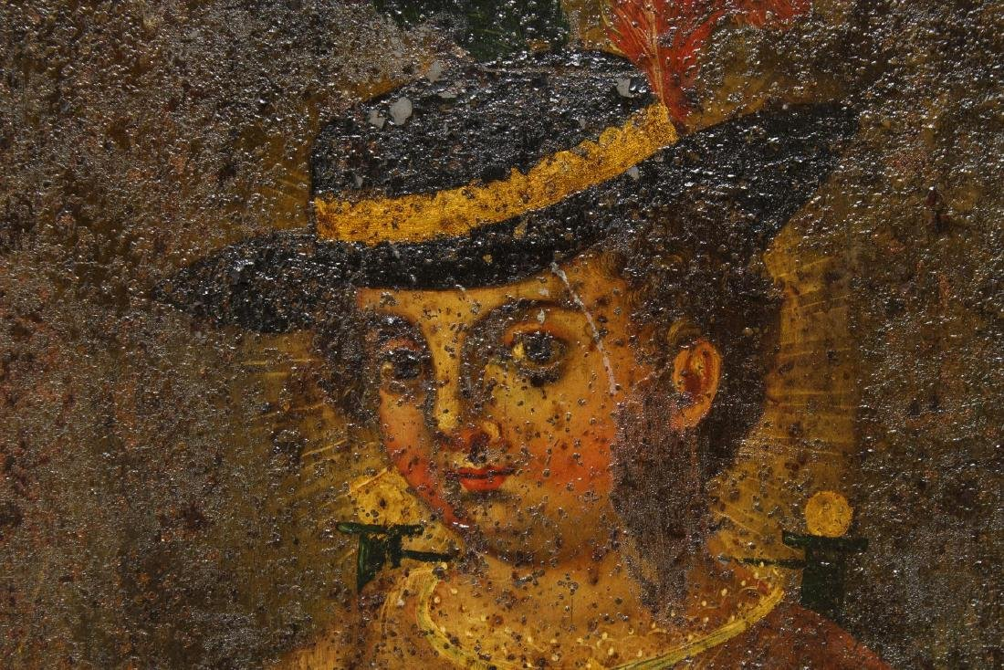 Spanish Colonial South American Toleware Painting - 3