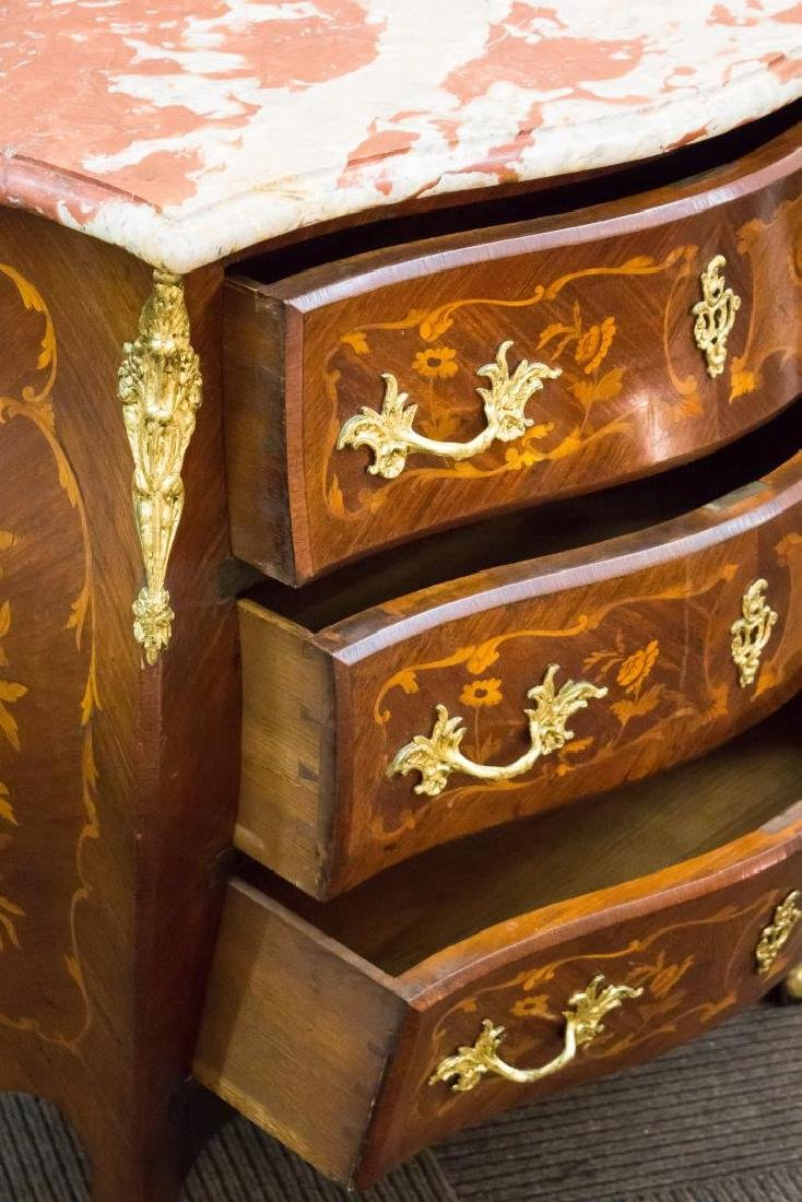 French Louis XVI-Manner Wood & Marble Commode - 6
