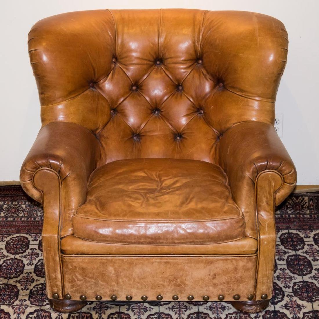 Ralph Lauren Overstuffed Leather Club Chair - 2