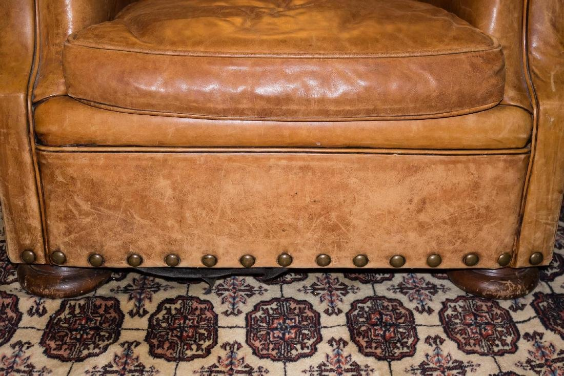 Ralph Lauren Overstuffed Leather Club Chair - 3