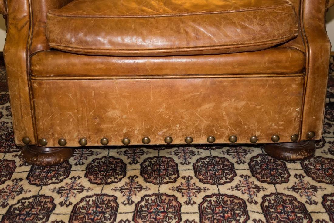 Ralph Lauren Overstuffed Leather Club Chair - 3