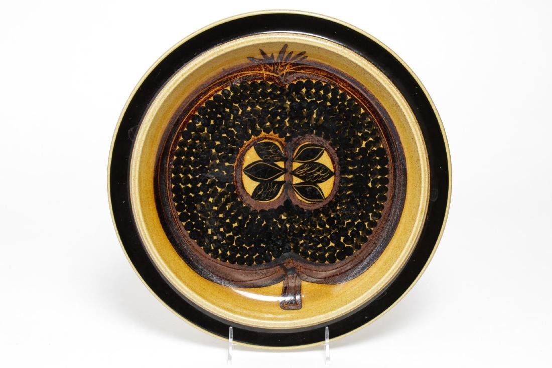 Arabia Finland Mid-Century Modern Pottery Plate