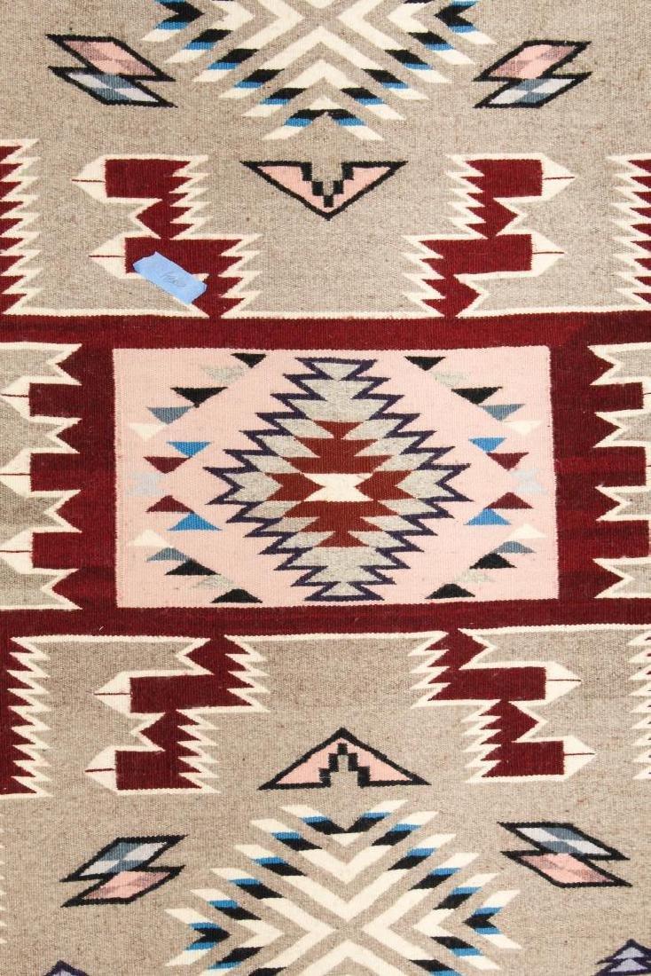 "Navajo American Indian Woven Rug, 4' 2"" X 5' - 2"