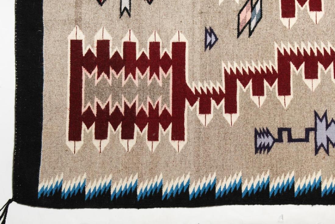 "Navajo American Indian Woven Rug, 4' 2"" X 5' - 3"