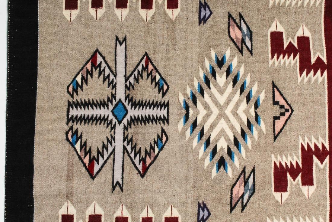"Navajo American Indian Woven Rug, 4' 2"" X 5' - 4"
