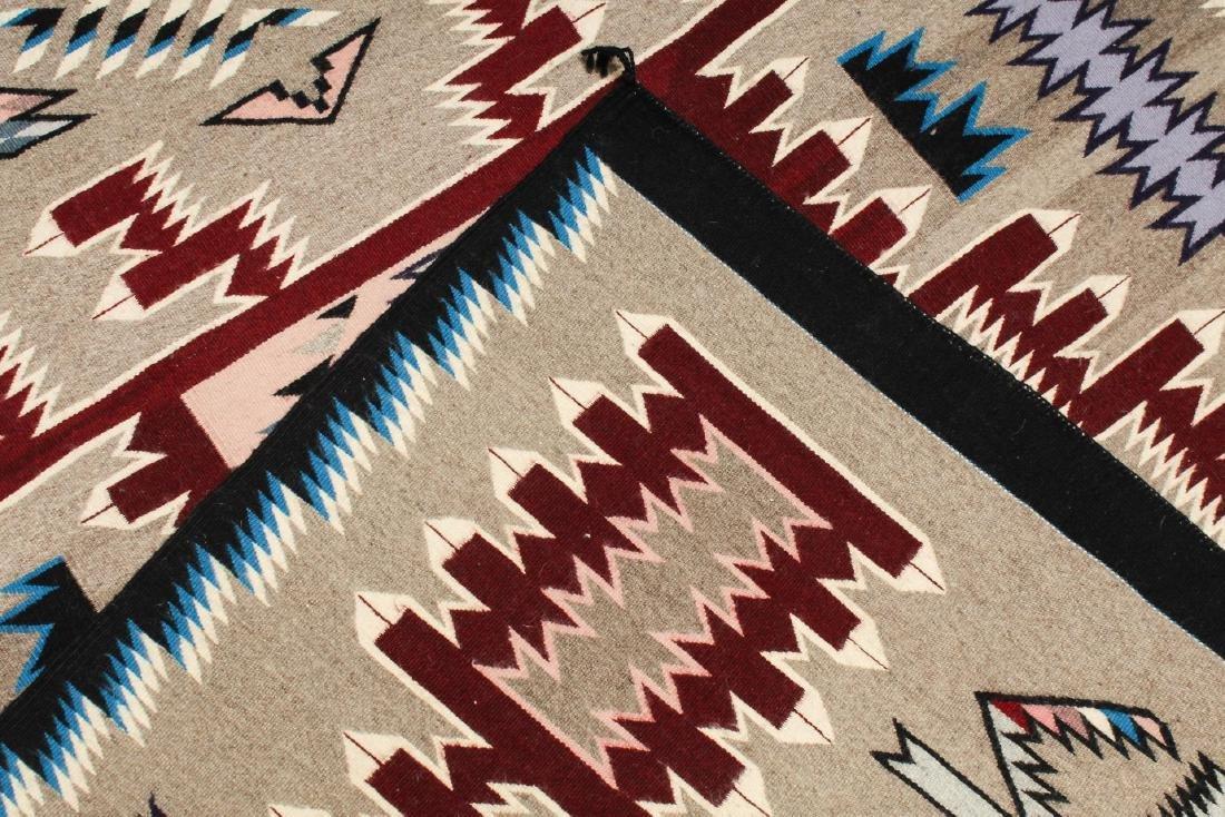 "Navajo American Indian Woven Rug, 4' 2"" X 5' - 5"