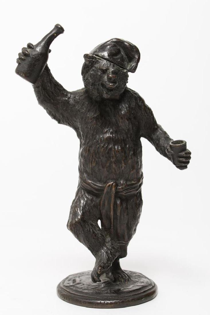 Christophe Fratin- Bronzed Dancing Bear Sculpture