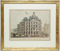 Currier & Ives Litho- U.S. Post Office, New York