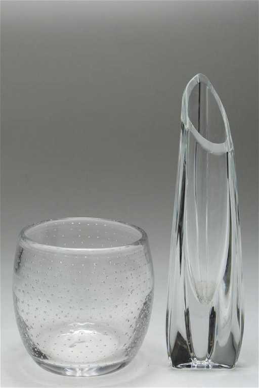 Baccarat Crystal Rose Bud Vase Bubble Glass Vase