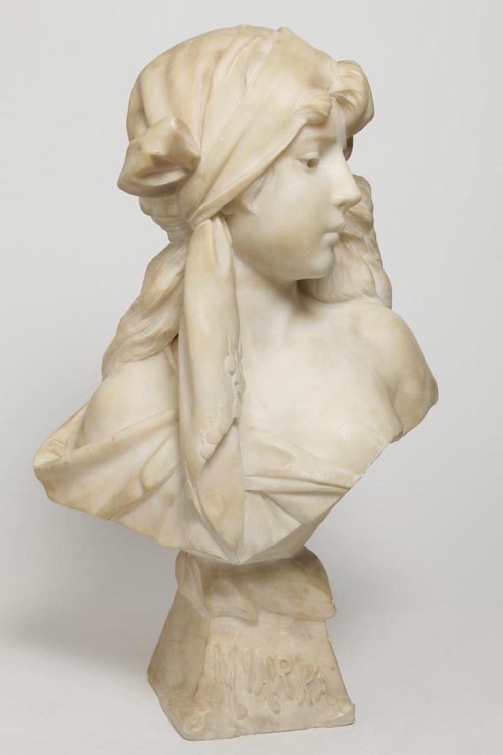 Emmanuel Villanis (French, 1858-1914)- Marble Bust